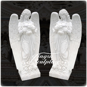 Brand new cement angel statues