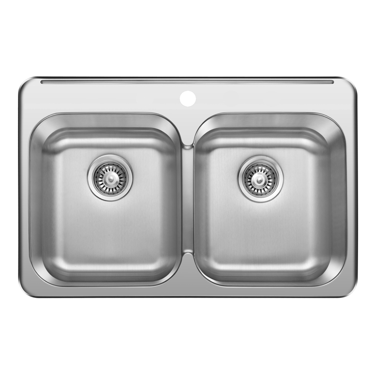 Wholesale CUPC Double Bowl 304 Canada Stainless Steel Topmount Sink