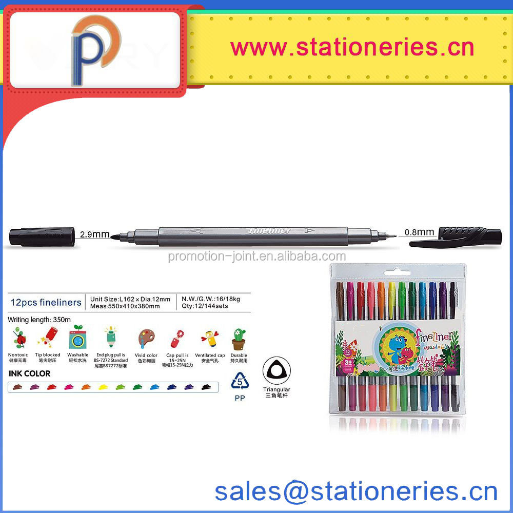 School Supply watercolour calligraphy markers dual tip color markers brush fineliner color pens set