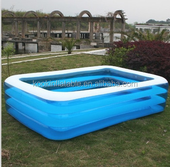 Large size rectangular family children 39 s inflatable for Large size inflatable swimming pool