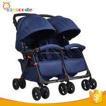 0-36 Months portable aluminum alloy frame double buggy stroller