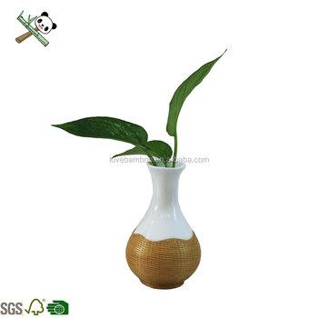 gambar kerajinan vas bunga dari bambu - gambar bunga