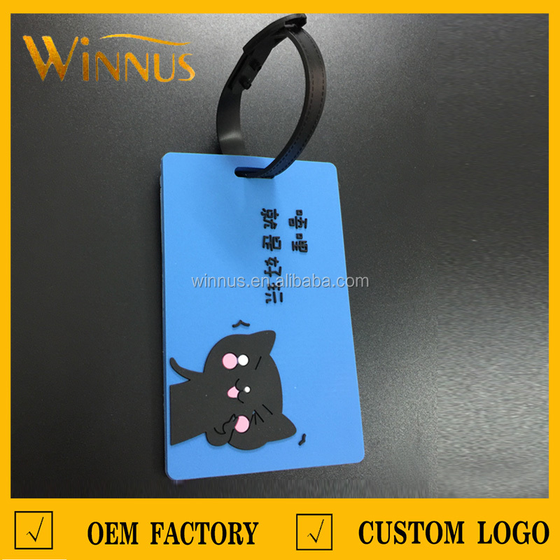 factory cheap custom travel bag cruise suitcase use 3d embossed logo name soft pvc luggage hang tag for baggage