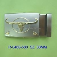 High Quality Custom Zinc alloy fashion roller metal buckle for fabric strap belt