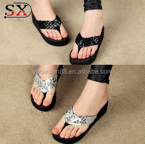 Lady slipper summer beach slide sandal cheap flip flop
