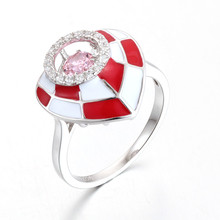 925 sterling silver jewelry enamel ring dancing stone ring
