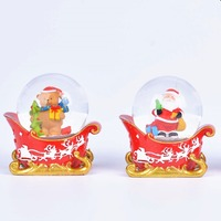Red Green Scarf Snowman Head Christmas Snow Water Ball Snowman Water Globe