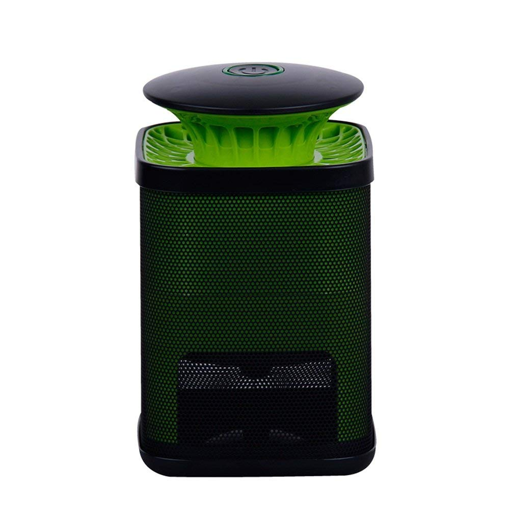 LIQICAI Mosquito Killer Lamp Portable UV Fly Trap Easy To Clean, Detachable Plug DC 12V, For Indoor, 125x125x200mm (Color : Green)