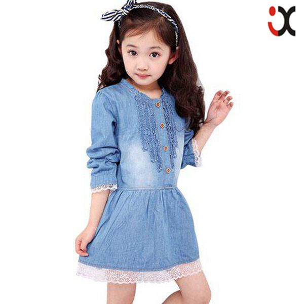 Denim Dress Kids Lace Princess Dresses Pictures Of Girls Cotton Tops Latest Jeans Tops Girls Kids Denim Jeans Girls Jxq1123 Buy Latest Jeans Tops