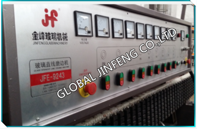 JFE-9243 2015 9Engines Popular high quality glass straight line edging and polishing machine