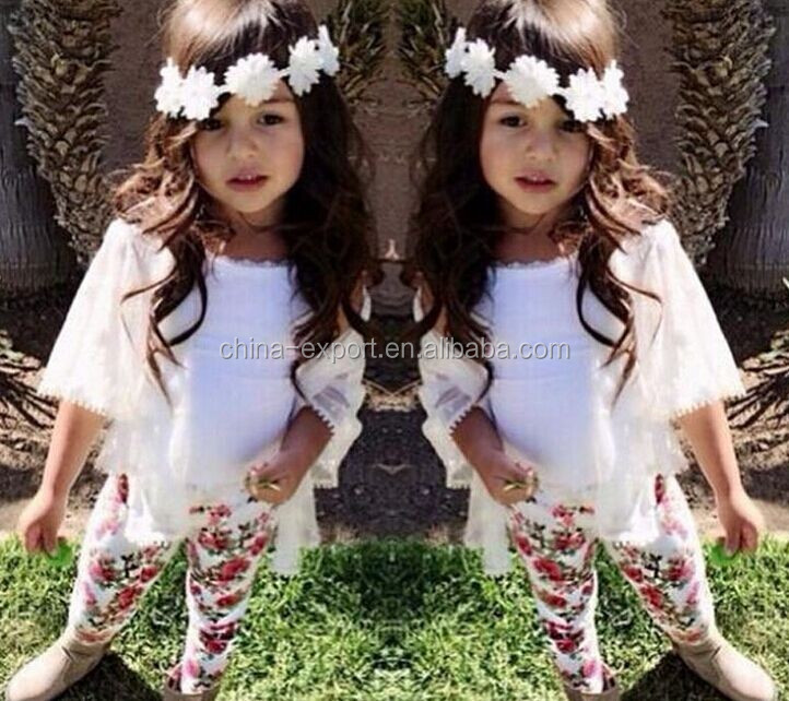 JPSKIRT1505404 2015 wholesale fashion summer hot sale new European white coat and sling and florals trousers girl safari suit