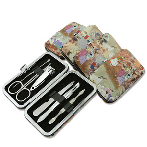New picture package fake nail tips tools 6pcs sets manicure&pedicure set