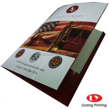 custom printed A4 Paper presentation file Folder with decorative pocket