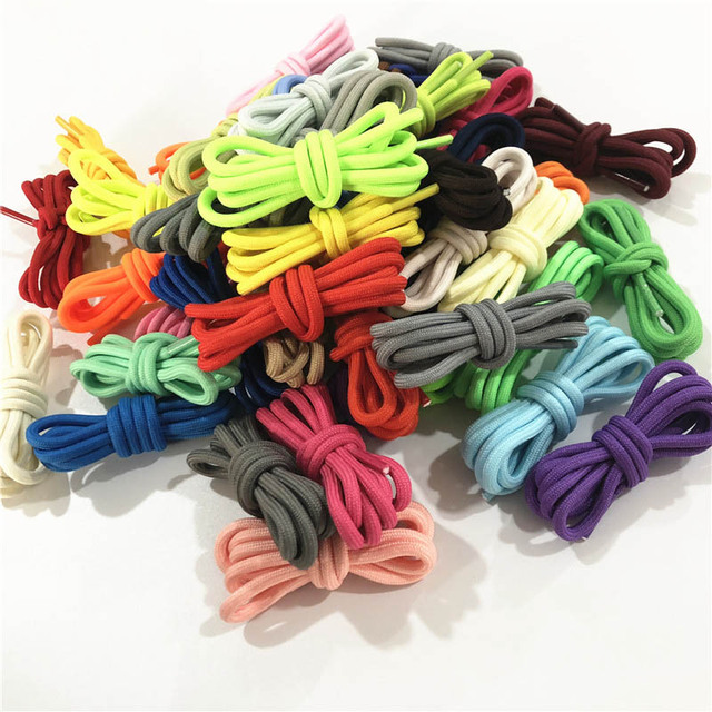 Weiou 0.5cm Round Sports Shoelace 120cm Polyester Thick Hiking Bootlaces Clothing Rope Outdoor Climbing Shoe Laces For Boots