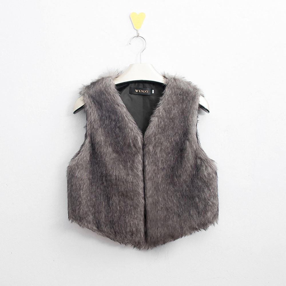 Теплее colete feminino зима осень жилет женщины пальто искусственный мех жилет без рукавов куртка и верхняя одежда весте роковой # 4163