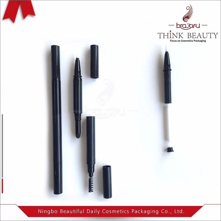 Multifunctional empty liquid eyeliner packaging fit different fiber heads also used as lipstick pencil,nail art pencil etc
