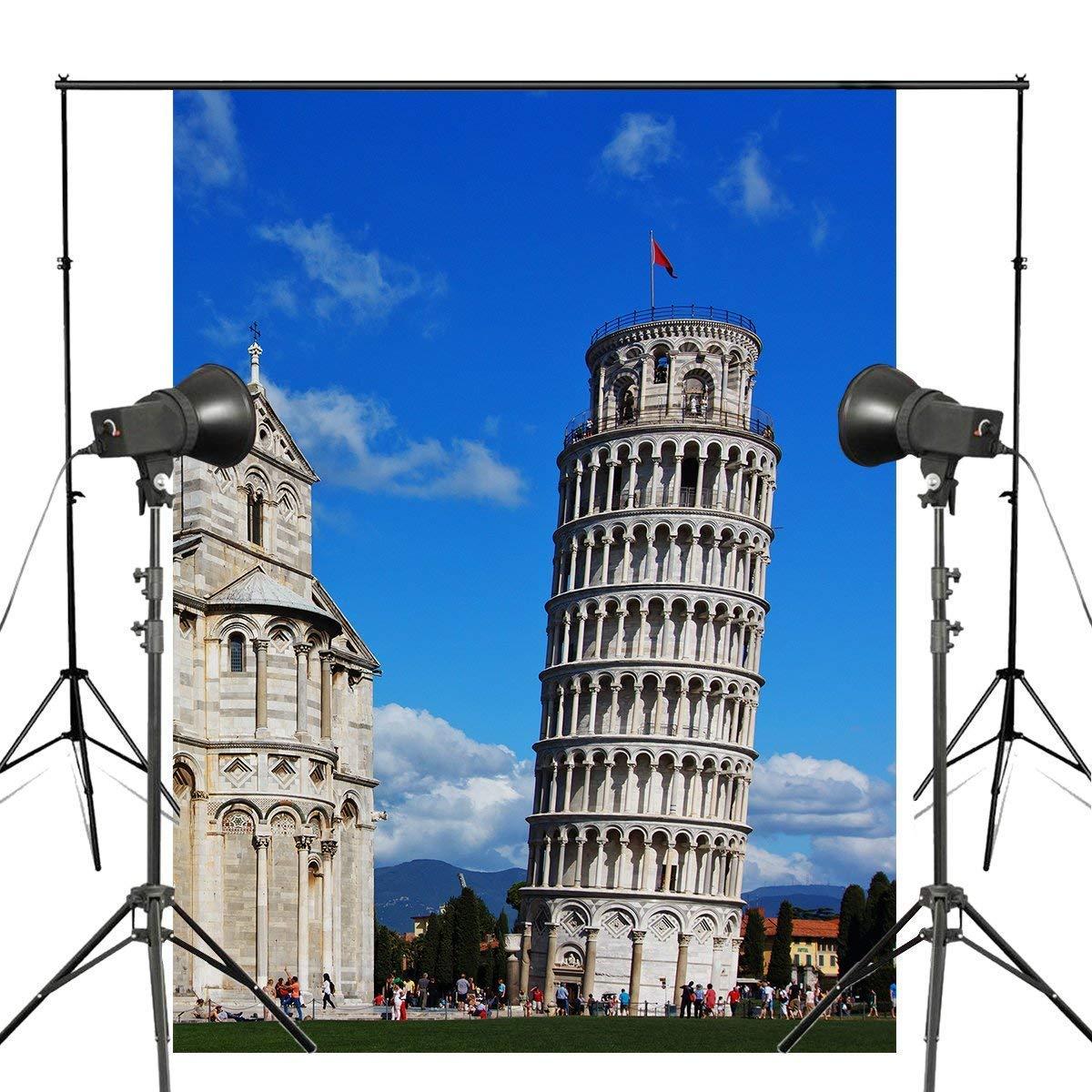 ERTIANANG 150x220cm European Building Photography Background Italy Pisa Leaning Tower Backdrop European Theme Photo Studio Background