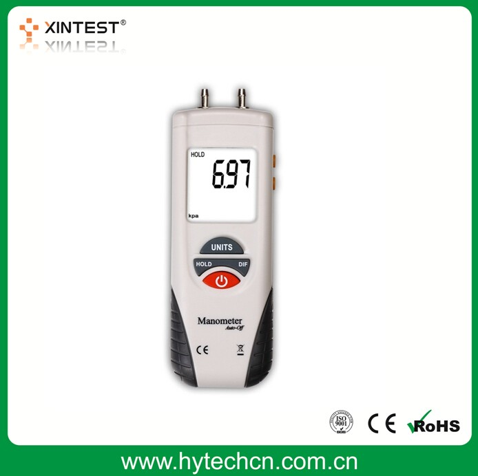 HT-1890 Digital Manometer in differential Pressure Gauge With Low Price