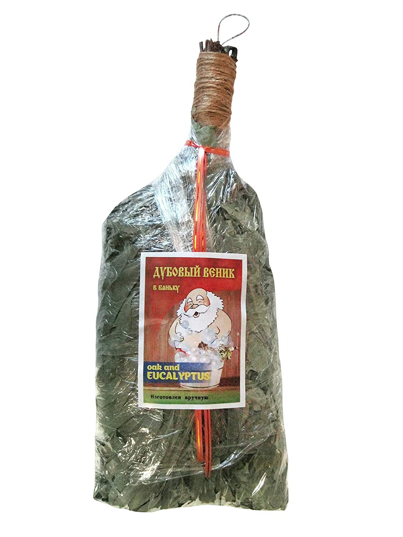 Oak with Eucalyptus bath broom Venik Broom for Russian Sauna Banya Bath House Natural Wood Oak Eucalyptus bath besom