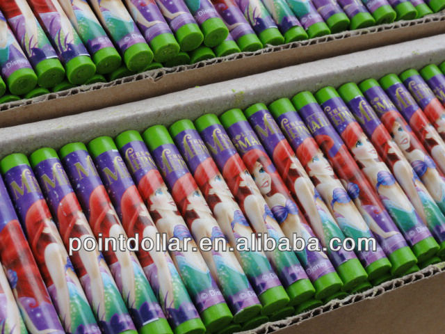 Oil pastel wax Crayons for Children/ Green colors with disney design