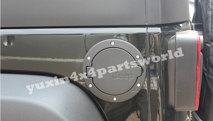 07 jeep wrangler jk fuel filler door tank covers fits 4door aluminumabs gas cap ebay. Black Bedroom Furniture Sets. Home Design Ideas