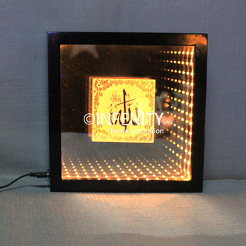 Islamic Decorative Wooden Frame Led Lights Inside Arabic Words