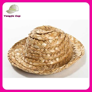 2015 hand made natural colors multi size wholesale mini straw doll hats for  sale a275f4478139