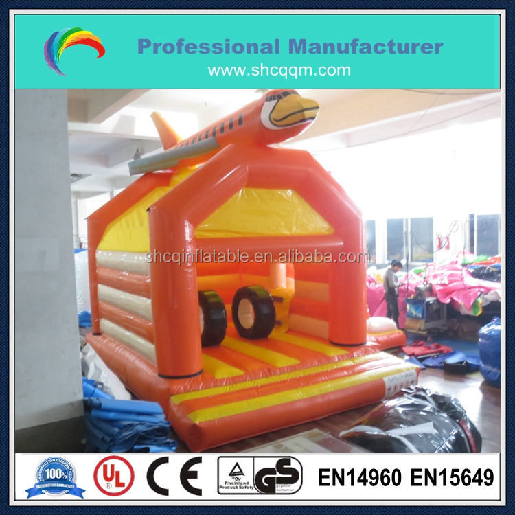 inflatable airplane bouncer with dry silde,inflatable combo for kids and adults