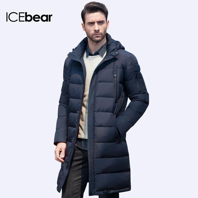 c021c57614b ICEbear 2016 Новая Одежда Куртки Бизнес Длинные Толстые Зимняя Куртка  Мужчины Твердые Куртка Мода Шинель Верхняя