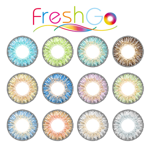 Freshgo Beauty $1 Color Contacts Cheap Colored Contact Eye Lenses Sweety Sterling Gray 3 Tone Color Contact Lens