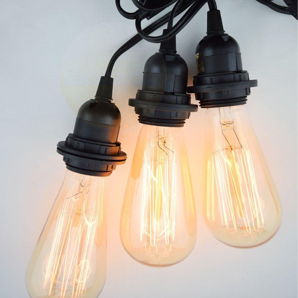 Get Quotations Fantado Bulk Case Triple Socket Pendant Light Cord Kits For Lanterns 19ft Ul Listed