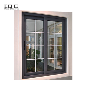 Latest Interior Aluminum Sliding Window With Grill Design