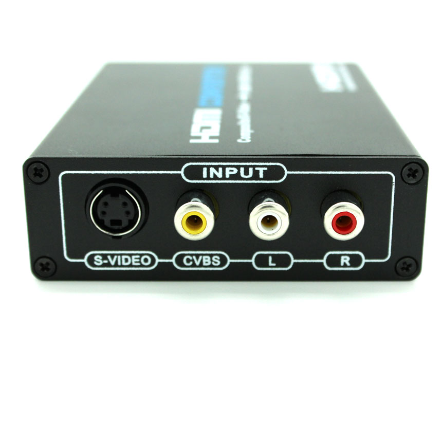 3RCA AV CVBS composite S-Video R /LAudio to HDMI Converter Adapter scale to 480p 720P 1080P for DVD camera