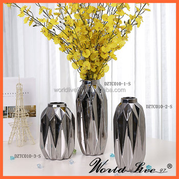 Guangzhou Tall Silver Floor Vase Flower With Wholesale Price Buy