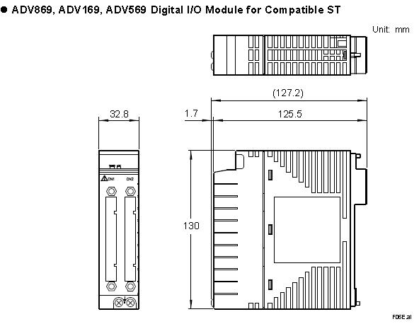 Yokogawa Digital I/O Module ADV569-P00 ADV569-P01