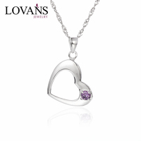 new products 2016 glowing heart necklace fashion necklace SPD089W