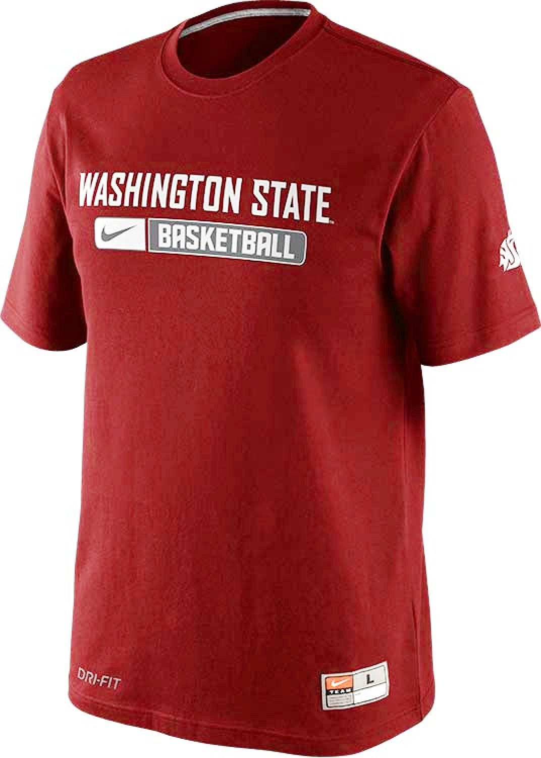 sneakers for cheap b2cf5 b9ef9 Get Quotations · Nike Washington State Cougars Basketball Team Issued Dri-FIT  Cotton Mens T-Shirt