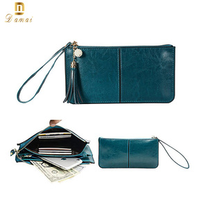 New Hot Women Long Zip Purse Leather Clutch Bags Coin wristlet wallet