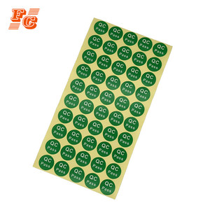 Custom green qc passed quality control label sticker