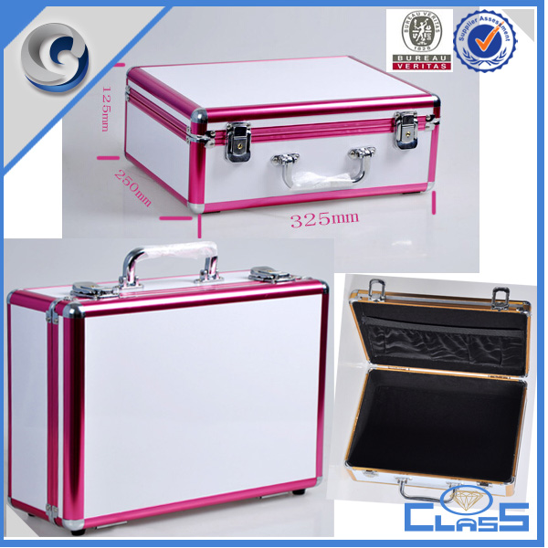 NEO-111 Extra Heavy Duty Black pink/white surface coded lock Aluminum Metal tool box