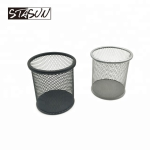 STASUN 3.5 inch dia Office Desk organizer Metal Mesh Pen Holder