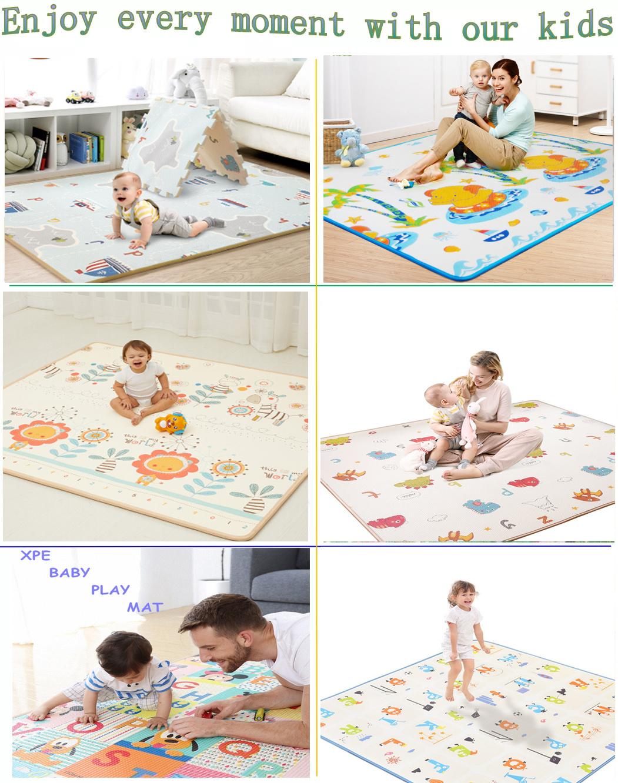 Экологичный водонепроницаемый игровой мат с принтом для детей, Детский коврик для ползания
