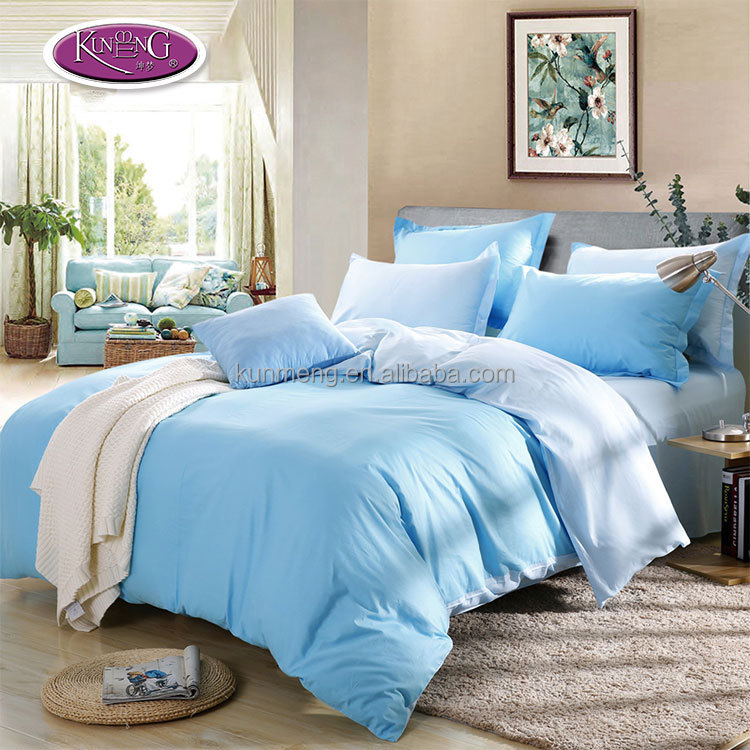 Made in China bedding set bulk bed sheets bright color romantic double stocklot bed sheet