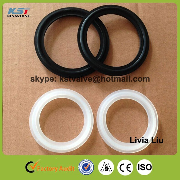 "1.5"" FDA Food grade sanitary tri clamp viton gaskets for pipe fittings"