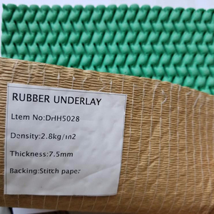 8mm 10mm green or brown floor comfort silent natural rubber underlay