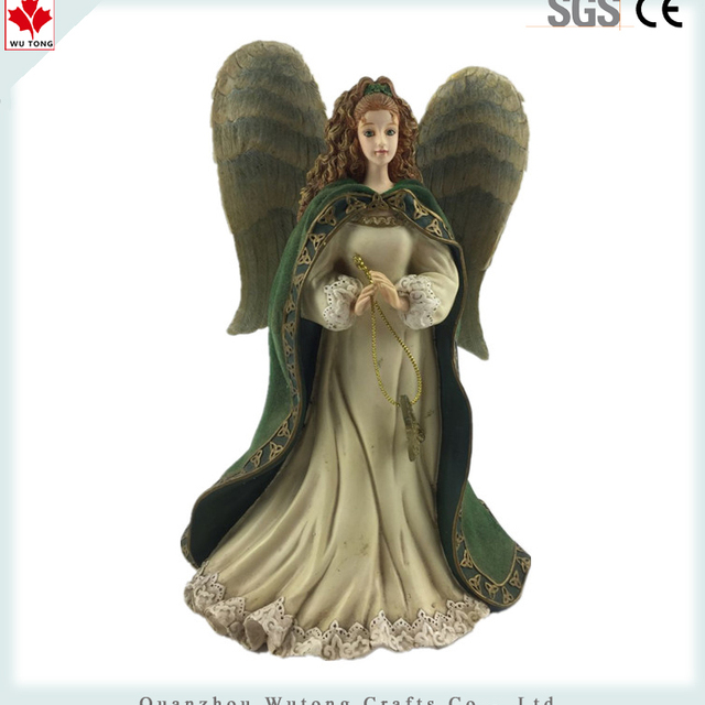 Custom Character Figure Green Angel Promotion Souvenir Resin Figurine