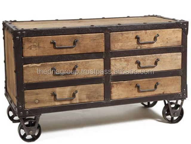 Industrial Furniture Trolly Table