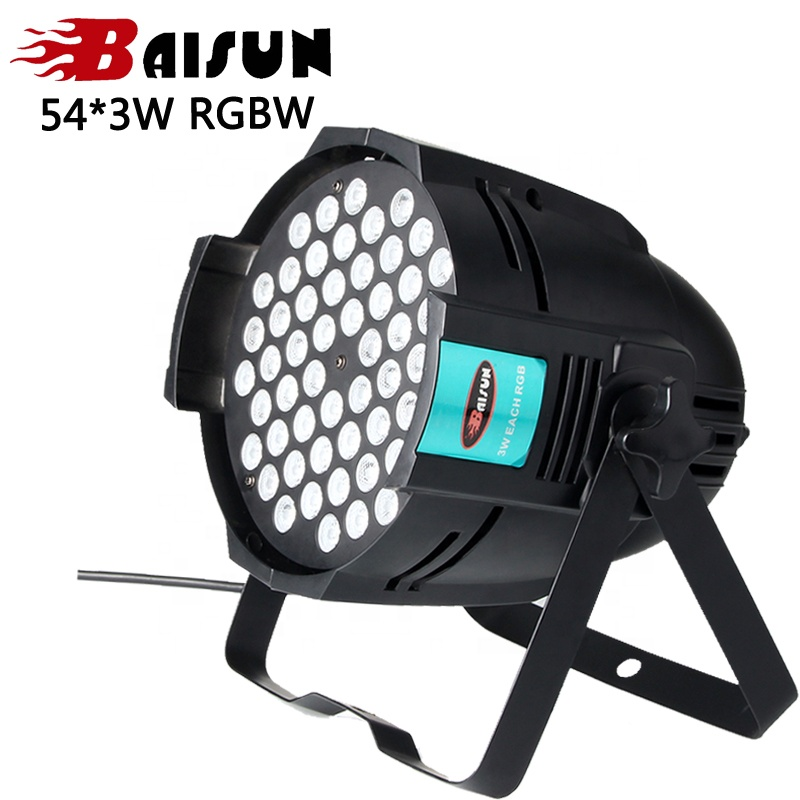 Baisun Brand LED 54pcs 3W RGBW Par Can Stage Light For DMX512 Indoor Concert Stage Light