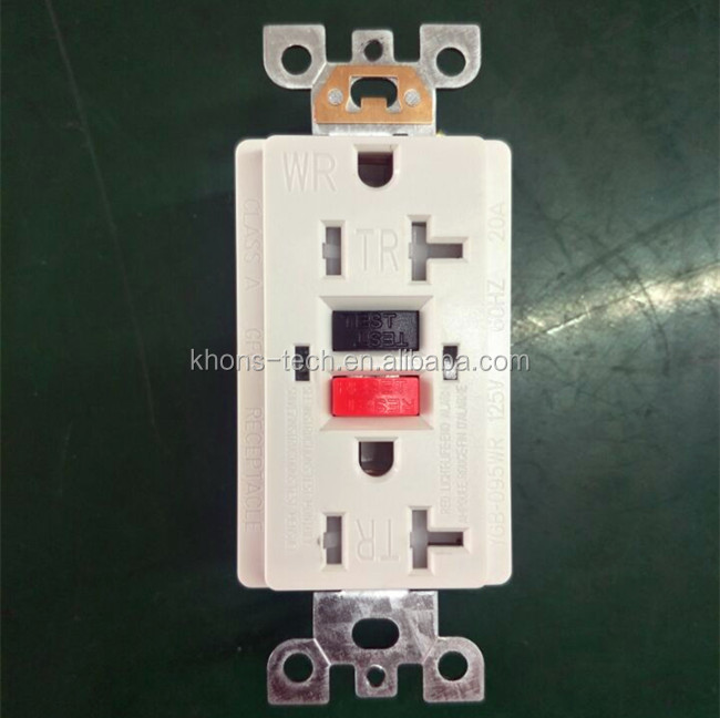 UL NEMA new self test GFCI receptacle outlet socket with tamper resistant duplex outlet receptacle