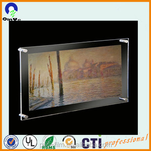 transparent wall mounted display photo frame acrylic sign board